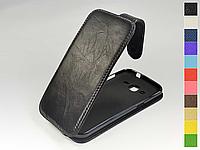 Откидной чехол из натуральной кожи для Samsung J200H Galaxy J2