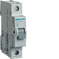 Автоматический выключатель Hager 1P 6kA C-40A 1M (MC140A)