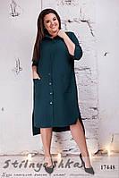Стильное платье-рубашка для полных бутылка, фото 1