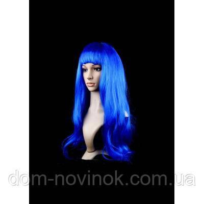 Парик ровный люкс (синий)