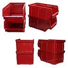 Ящик для метизів 702 для зберігання дрібних металовиробів, складський контейнер, з первинної сировини, фото 5