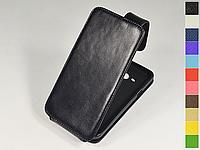 Откидной чехол из натуральной кожи для Samsung Galaxy J3 2016 J320