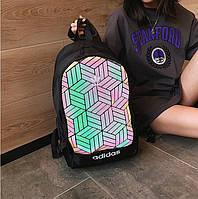 Рюкзак 3D Adidas адидас рефлективный школьный мужской женский чоловічий жіночий реплика 6005z/35