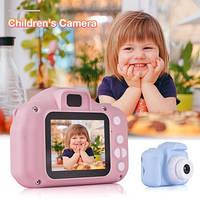 Детская цифровая мини камера фотоаппарат для ребенка + 32Гб карта памяти в комплекте