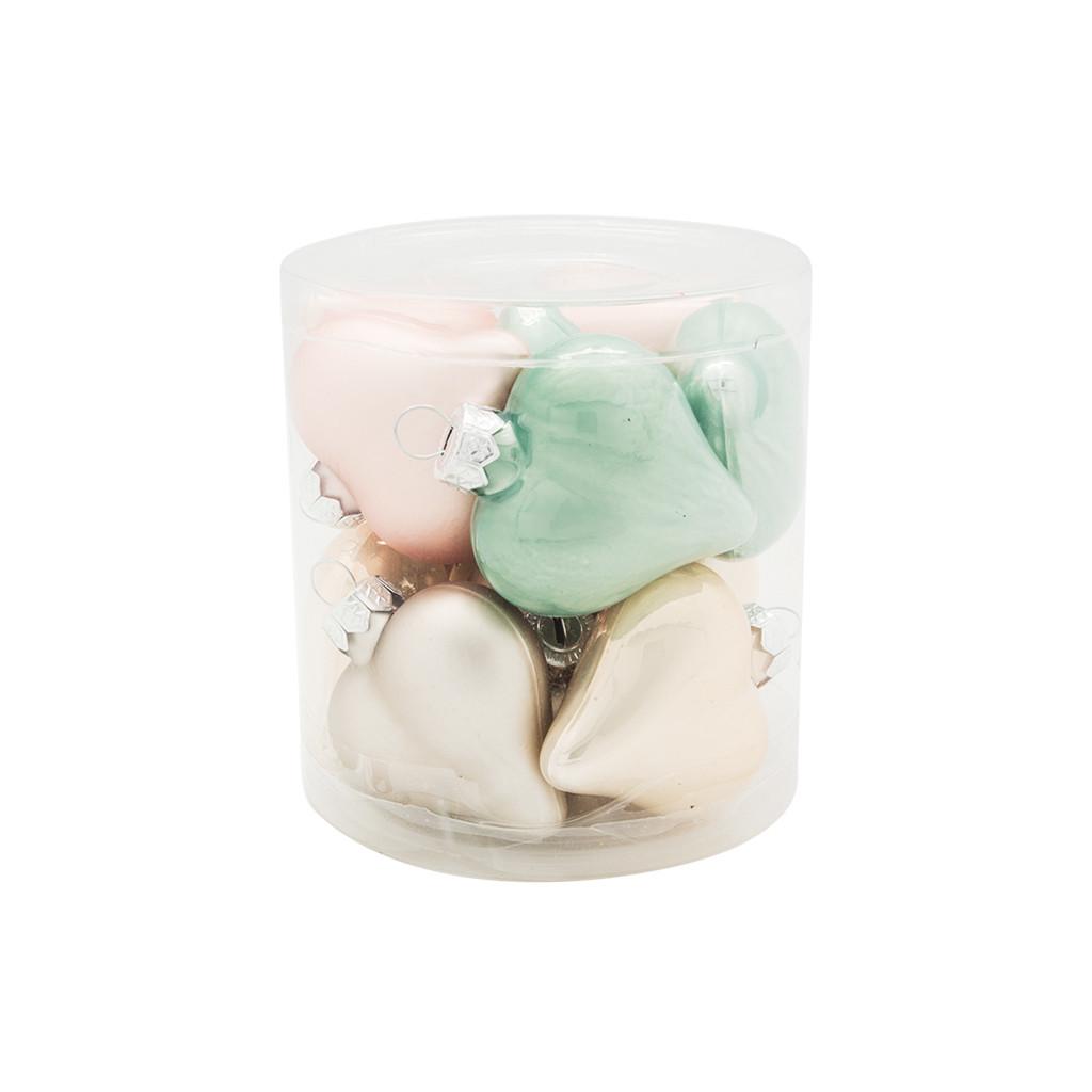 Набор шаров тубус Сердце 5см серо-розовый 12шт 109204