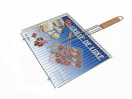 Решетка-барбекю №509 супер с деревянной ручкой Lux