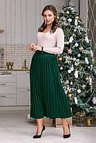 Вязанная длинная  юбка плиссе 42-50 размеры, фото 3