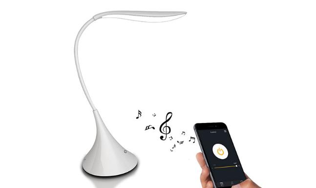 Настольная умная лампа смарт с Bluetooth стерео динамиком USB зарядка аккумулятора
