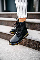 Женские ботинки Dr.Martens Black \ Др. Мартенс Черные \ Жіночі кросівки Др.Мартенс Чорні