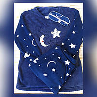 Теплая пижама костюм для дома и сна  штаны с кофтой флис с махрой Fawn (Турция)