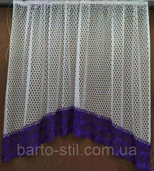 Арка-занавеска на кухню из сетки и цветного макраме на карниз 2 м. разные цвета
