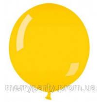 """Воздушный шар пастель желтый 39"""" (100 см)  очень плотный, широкое горло G-02 Gemar Италия"""