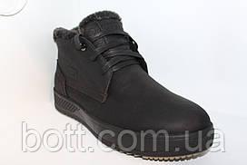 Кожаные зимние ботинки черные