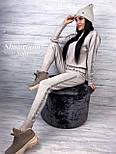 Женский очень приятный теплый кашемировый качественный вязаный костюм с узором под горло с манжетами, фото 2