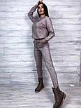 Женский очень приятный теплый кашемировый качественный вязаный костюм с узором под горло с манжетами, фото 3