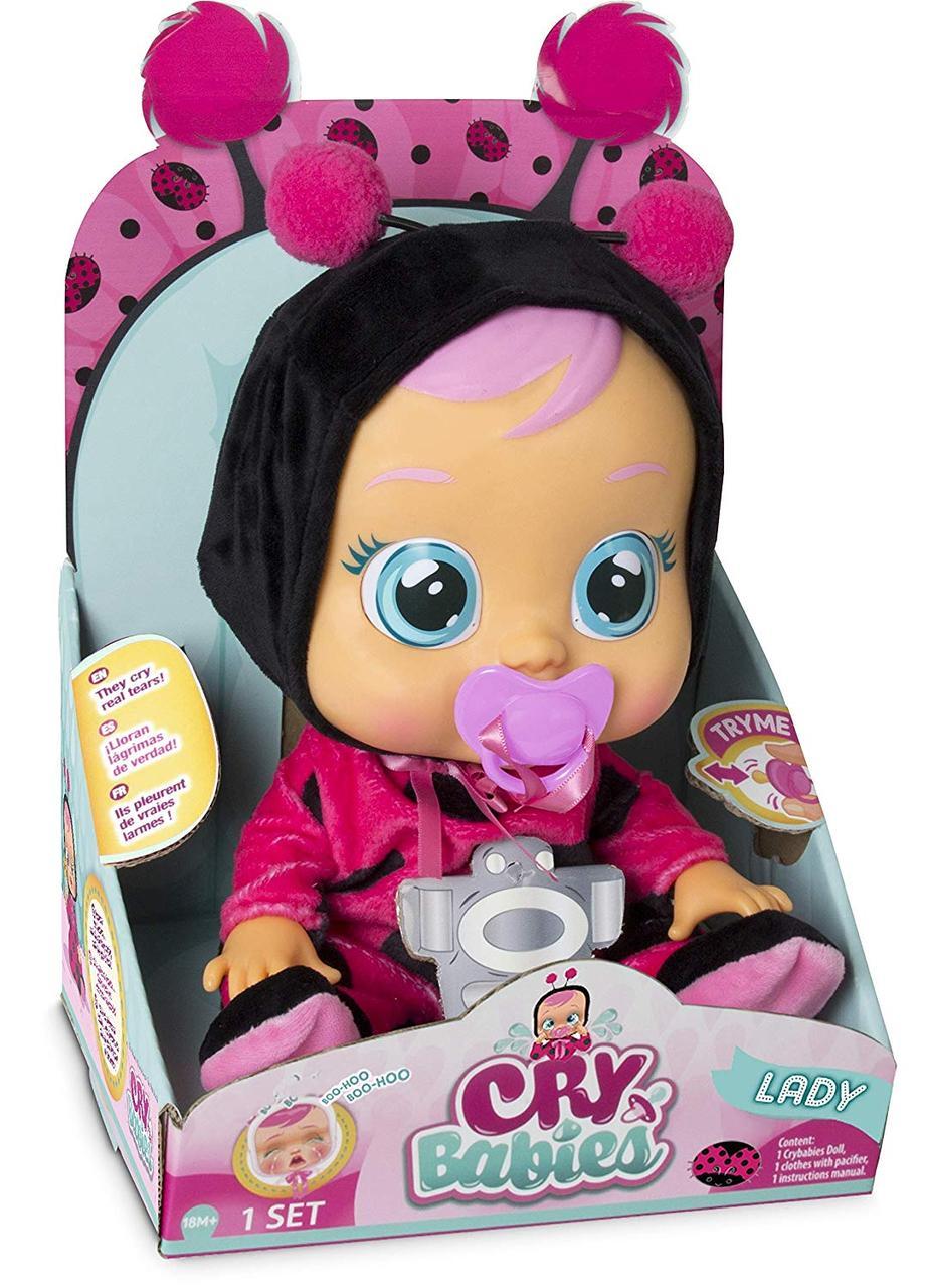 IMC Toys Интерактивная кукла пупс Плачущий младенец Леди Баг Cry Babies Lady