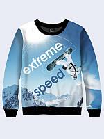 Модный яркий свитшот 3D. Зимний свитшот для мужчины. Стильный свитшот с зимним рисунком. Толстовки мужские 3D