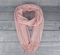 Нежный кашемировый шарф, палантин Cashmere 7480-6 светло-розовый, расцветки, фото 1