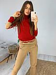 Женский теплый костюм двухцветный под горло стильный яркий, фото 4