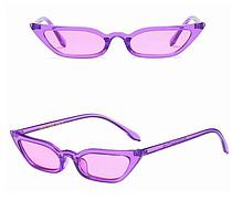 Женские фиолетовые очки узкие Avatar
