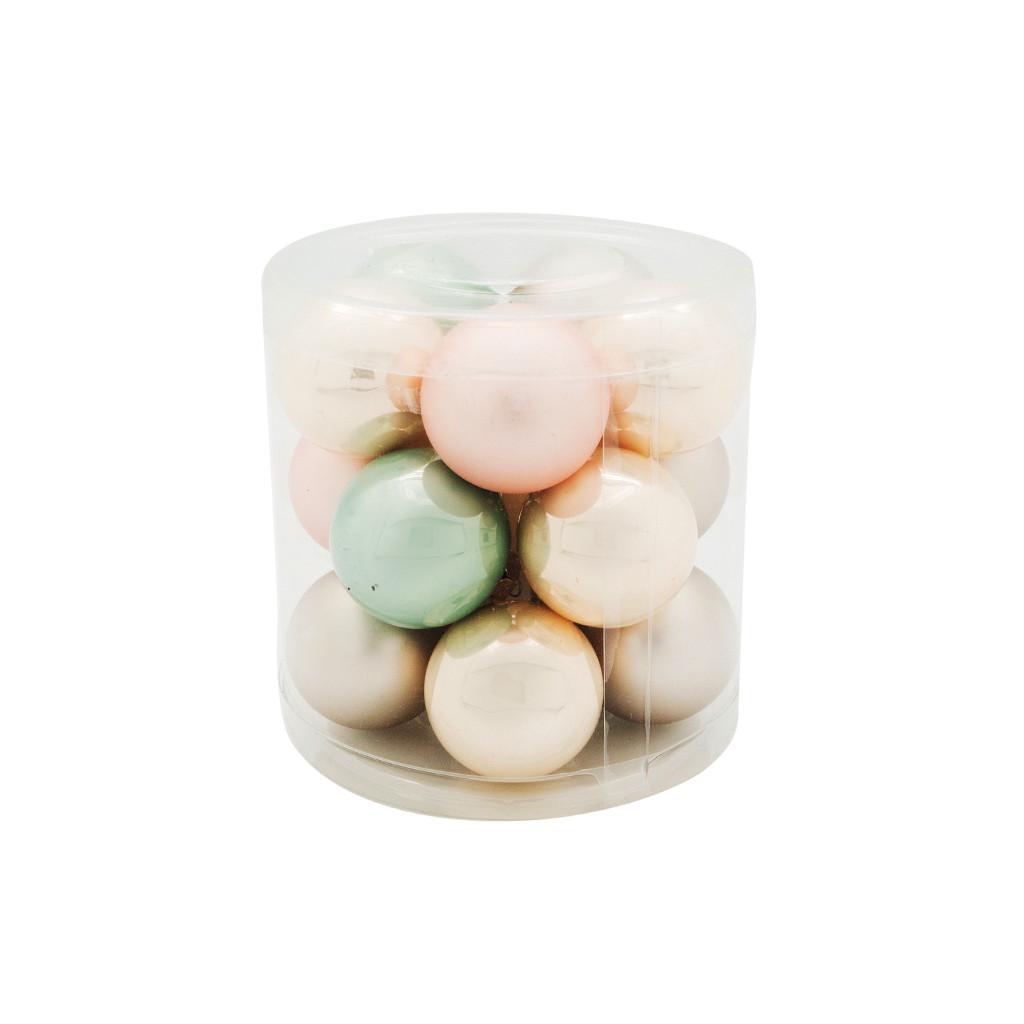 Набор шаров тубус Шар 3.5см серо-розовый MIX 15шт 109197