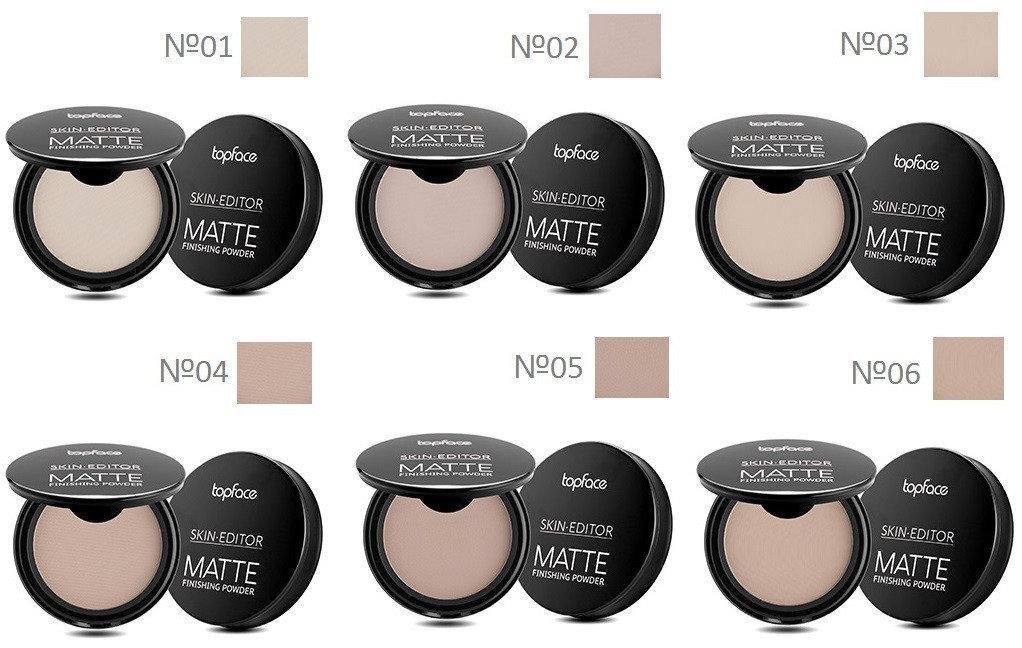 Компактная пудра для лица TopFace Skin Editor Matte PT263