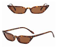Очки с леопардовой оправой модные узкие Avatar