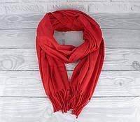 Нежный кашемировый шарф, палантин Cashmere 7480-7 красный, расцветки