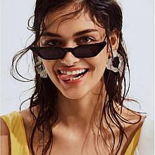 Черные узкие очки солнцезащитные модные тенденции Avatar