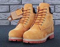 Мужские ботинки Timberland 6-inch nub Натуральный МЕХ  (реплика)