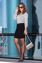 Молодёжная тёплая вязанная юбка длины мини 44-50 размеры, фото 2