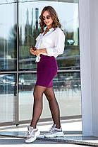 Молодёжная тёплая вязанная юбка длины мини 44-50 размеры, фото 3