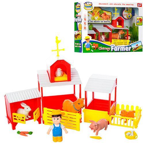 Набір ігровий Ферма 388 34-25 см фігурка тварини 5 штук