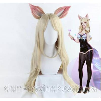 Парик Косплей аниме блонд с ушками