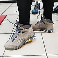 Ботинки женские кожаные серые спорт Grisport, 37