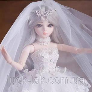 Шарнірна лялька наречена bjd автора Тіфані ріст 60 см, 1/3, попелястий колір волосся + одяг і взуття в подарунок