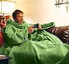 Одеяло с рукавами Снагги (Snuggie) (голубой,шоколад,бордовый,розовый), фото 3