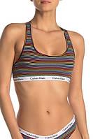 Женский оригинальный хлопковый комплект нижнего белья в полоску Calvin Klein, фото 1