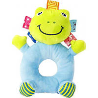 Мягкая игрушка-погремушка  Лягушка