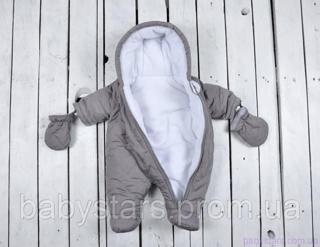 Теплый комбинезон для новорожденного