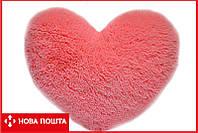 Декоративная подушка сердце 37 см розовое, фото 1