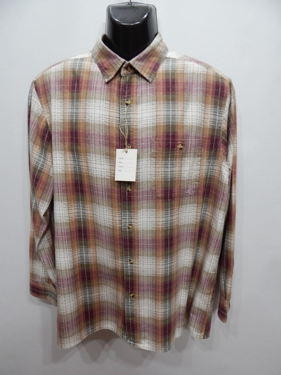 Мужская теплая рубашка с длинным рукавом Daxon р.50 091RT