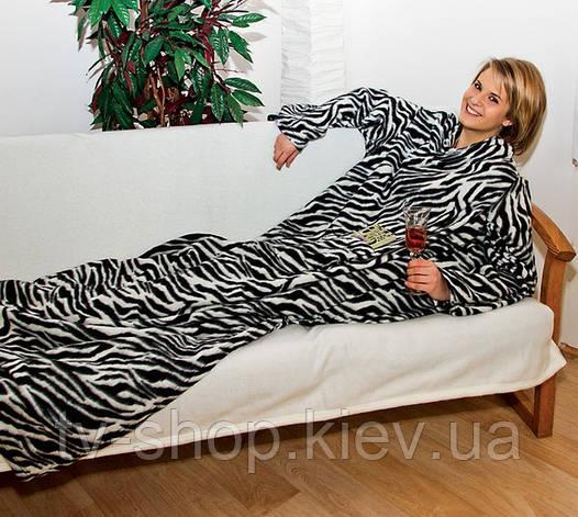 Одеяло с рукавами Снагги (Snuggie) (волны,горох,клетка)