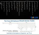 Светодиодная гирлянда DELUX Icicle 18 Желтый flash 2 х 0,7м 75LED Белый/Черный, фото 2