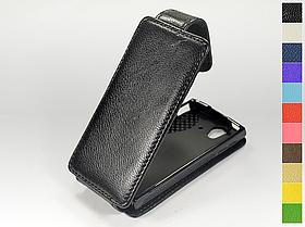 Откидной чехол из натуральной кожи для Sony Ericsson Xperia Ray (st18i)