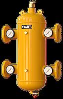 Гидрострелка сепаратор TRF.M-100 фланцев. c магнит.улав.Ду100 с манометрами 16bar KVANT Air DiRT