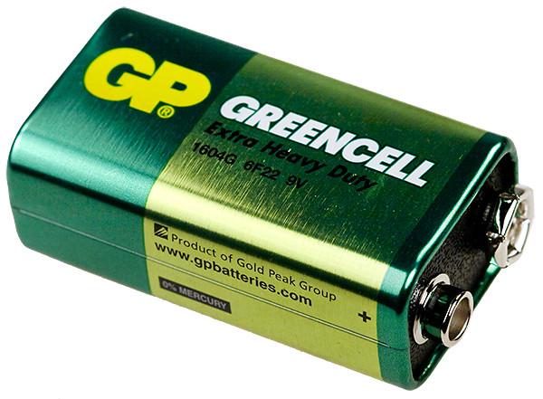Батарейка 9v Крона GP1604 Greencell 6F22