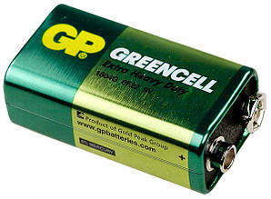 Батарейка Крона 9v GP1604 Greencell 6F22