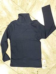 Гольф детский  на баечке  с отворотом  размер  140 см цвет темно синий
