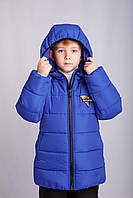 Р-р 104, Куртка детская зимняя тёплая на флисе , для мальчика